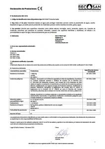 becosan declaracion de prestaciones pdf preview