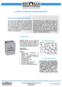 leistung von becosan densifier auf beton pdf preview