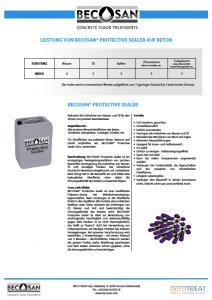 leistung von becosan protective sealer auf beton pdf preview