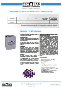 performance du becosan protective sealer sur le beton pdf preview