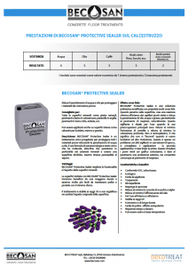 prestazioni di becosan protective sealer sul calcestruzzo pdf preview