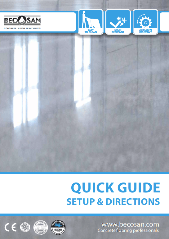 becosan quick guide setup and directions pdf preview