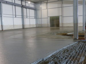 new reinforced concrete floor