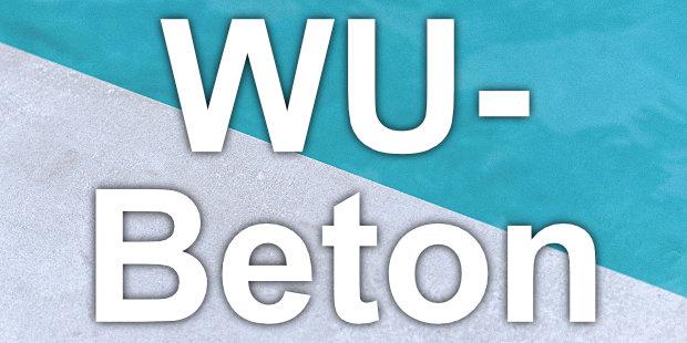"""WU-Beton ist wasserundurchlässiger Beton, der vor allem als """"Weiße Wanne"""" für die Abdichtung gegen Grundwasser zum Einsatz kommt."""