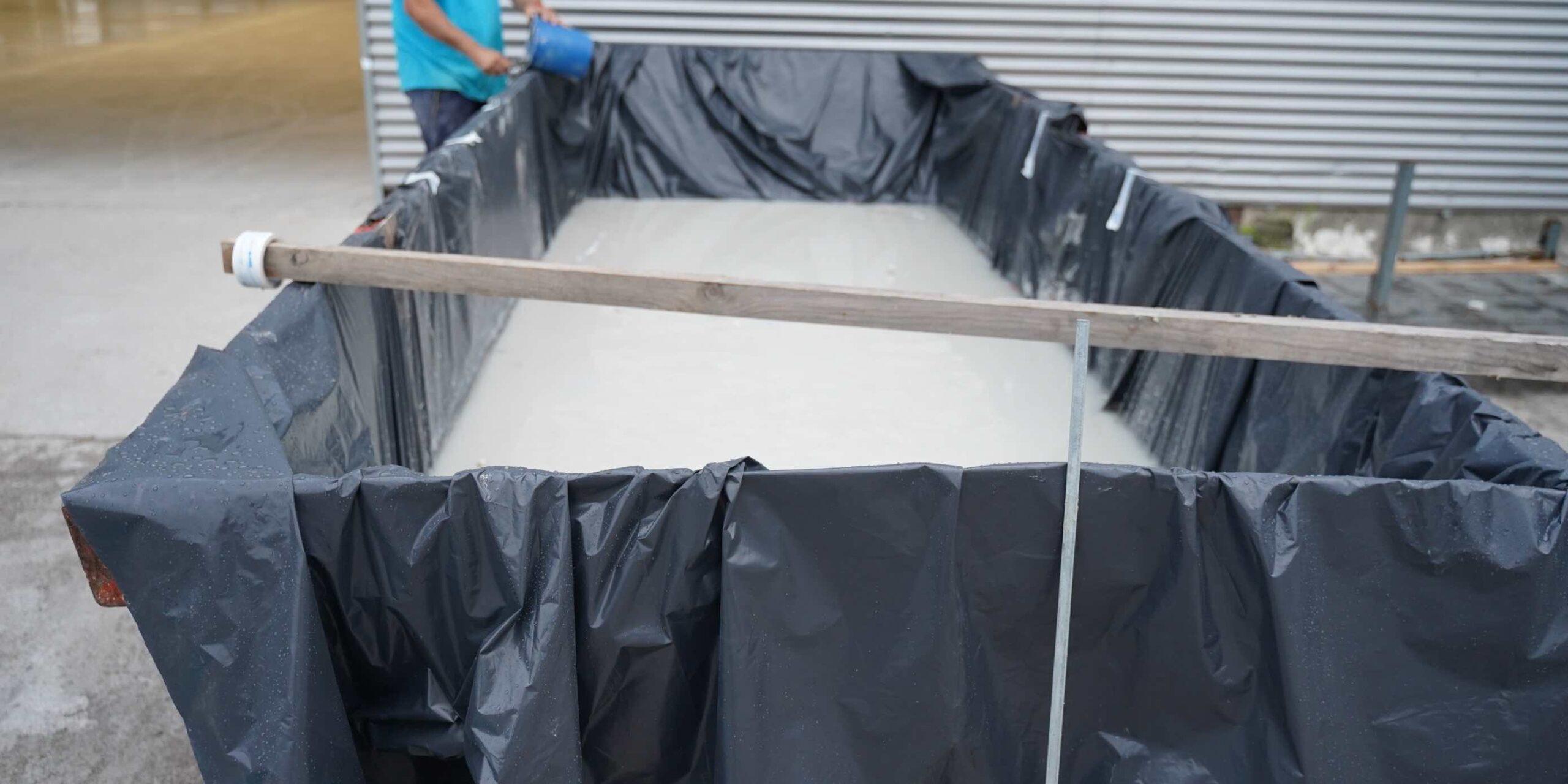 Eliminación del lodo del hormigón