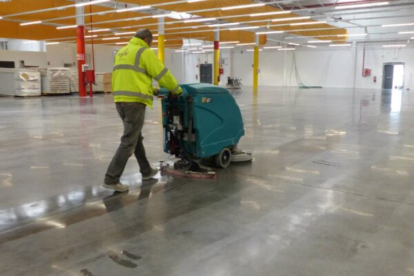 Warehouse cleaning concrete