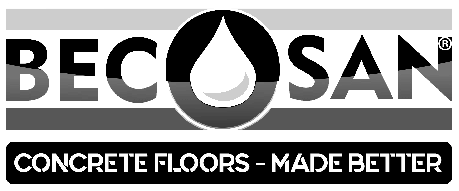 becosan logo concrete floor made better