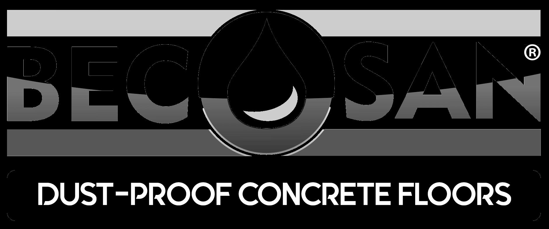 EN becosan logo dustproof transparent - Pisos de concreto pulido