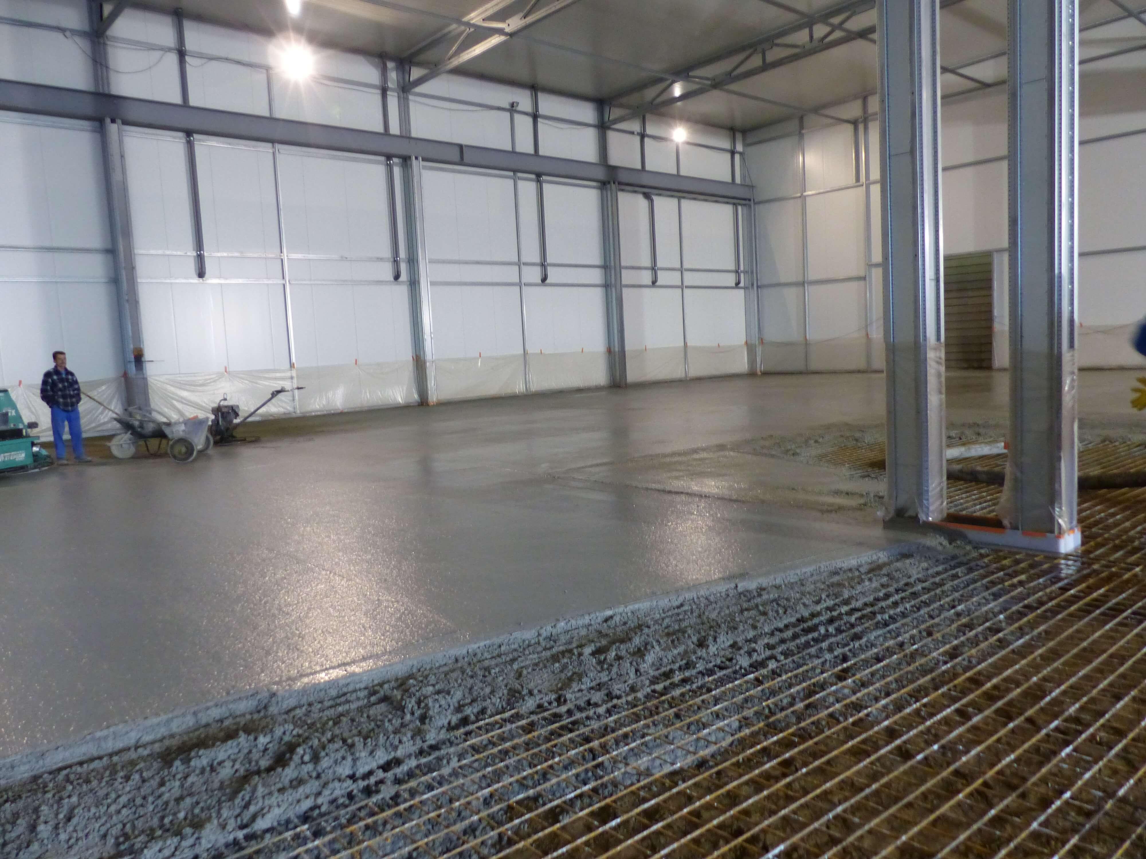 installation af betongulv