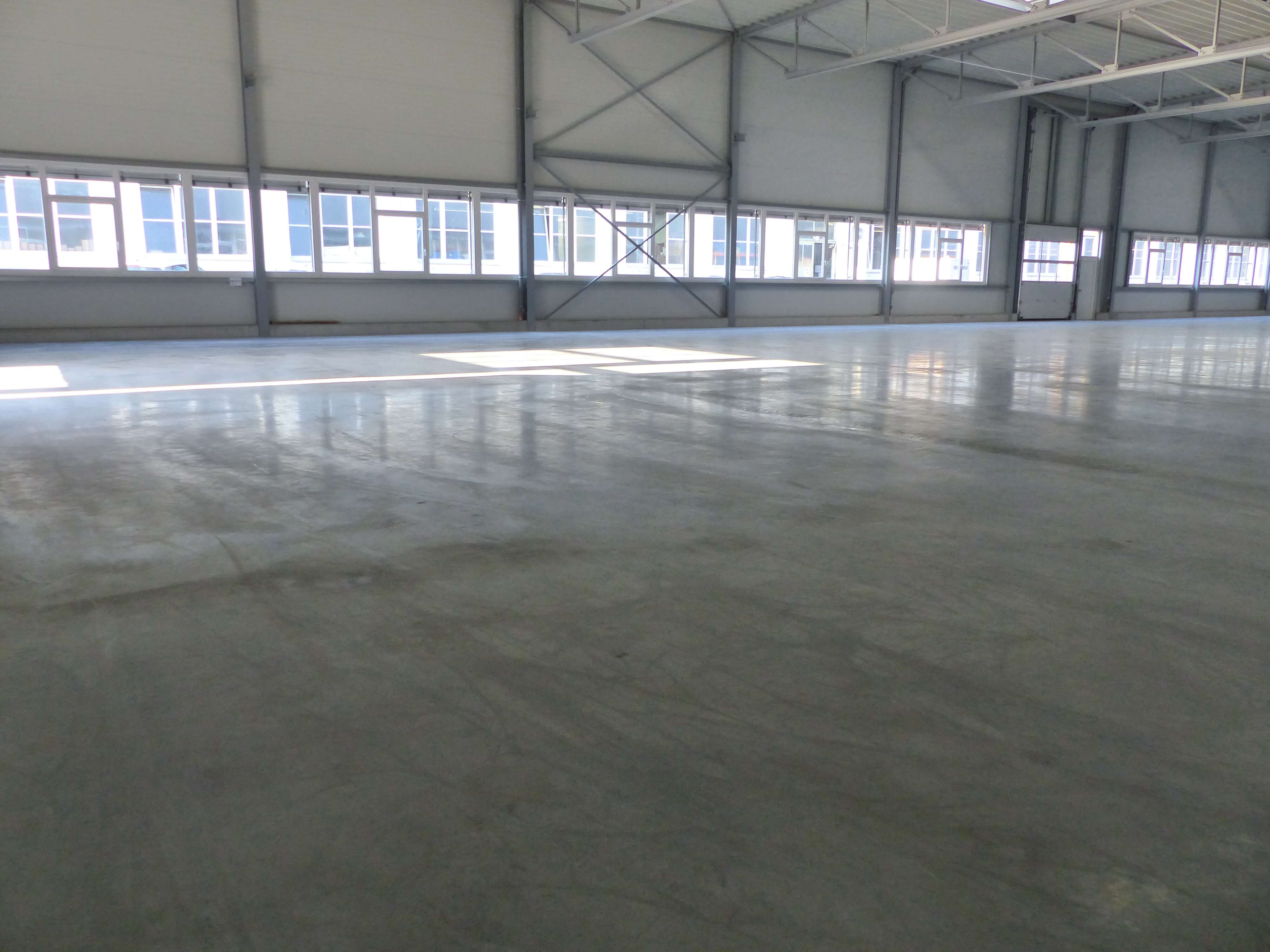 new troweled concrete floor