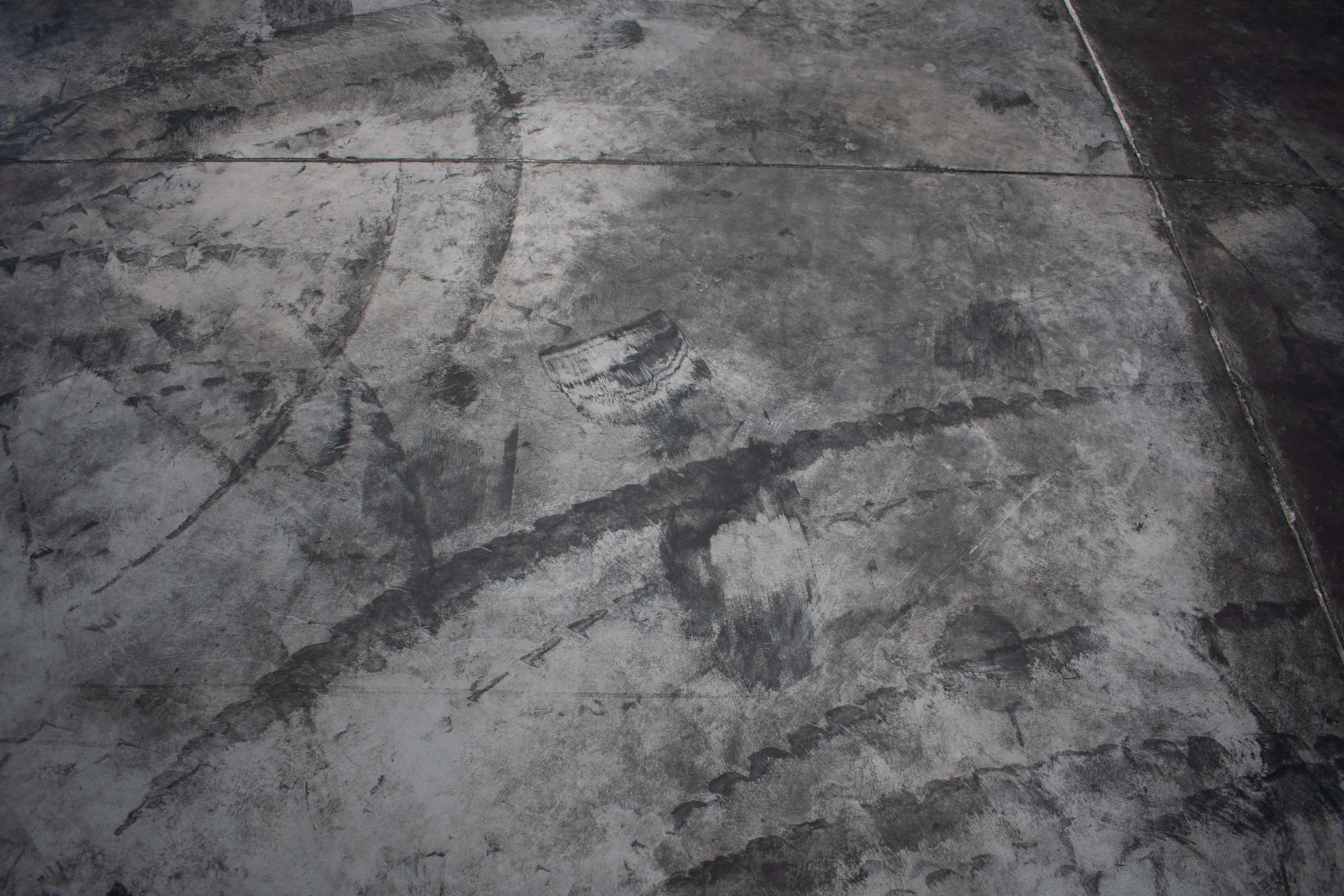 How to clean stained concrete floors