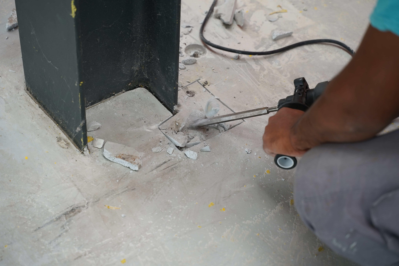 prepare concrete floor