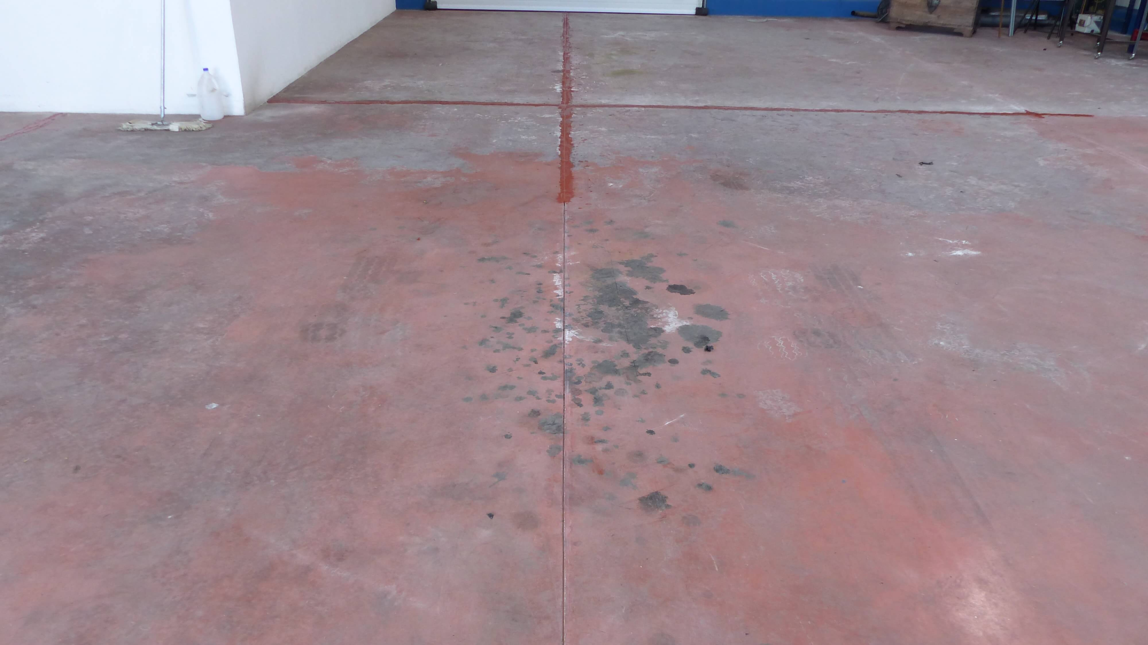 red concrete before