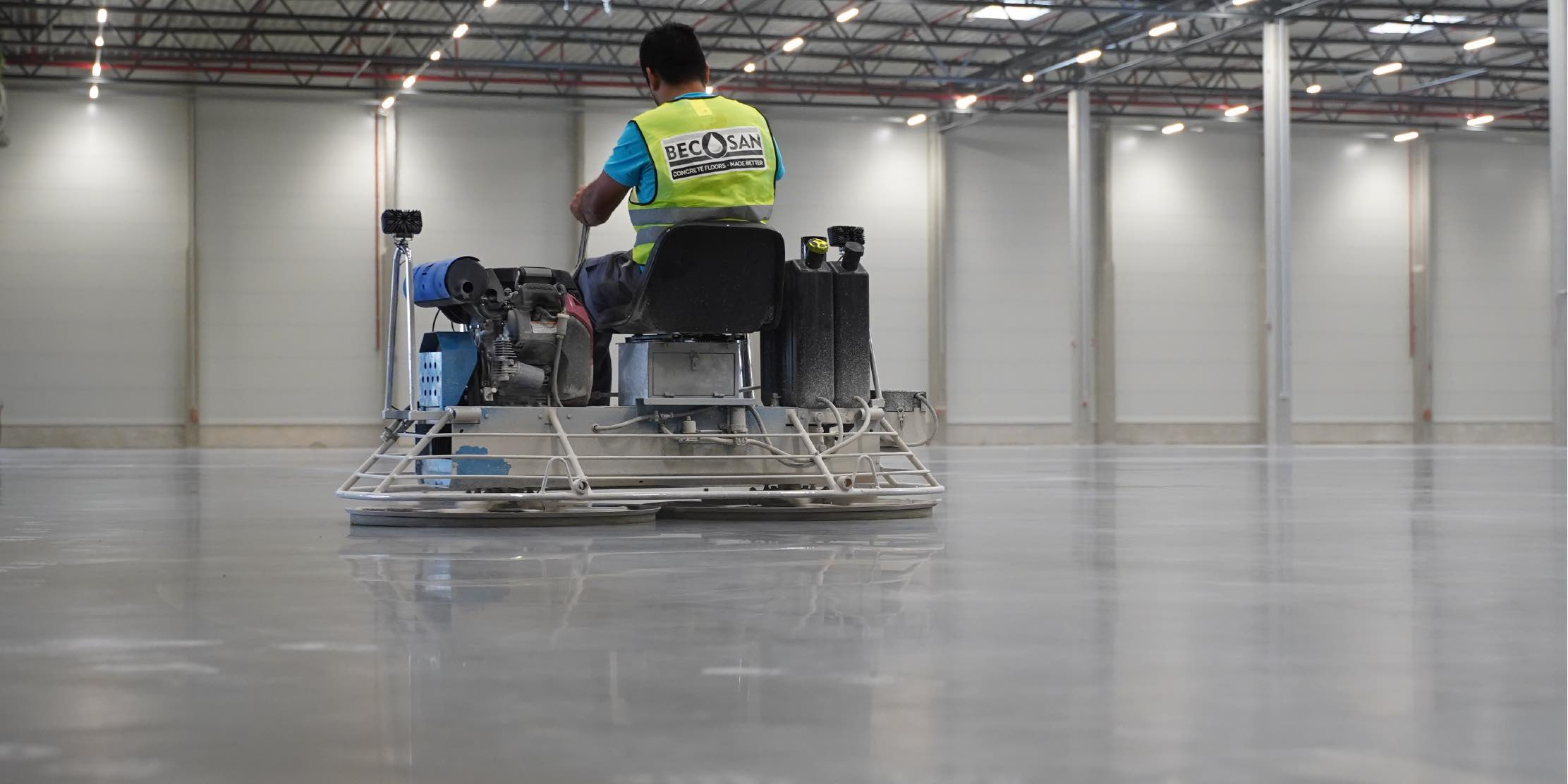 Concrete floors treated with BECOSAN®