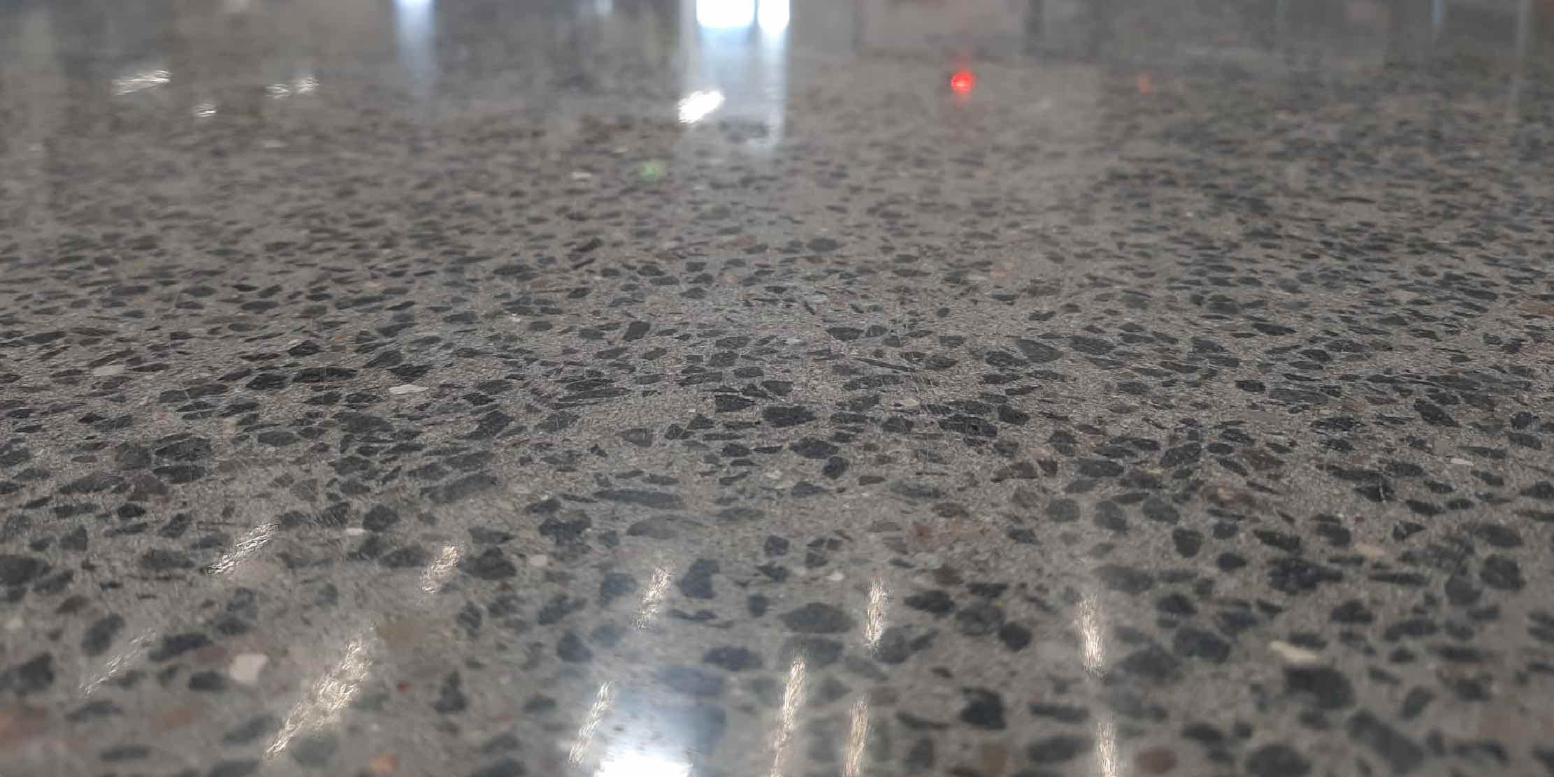 How to make concrete shiny