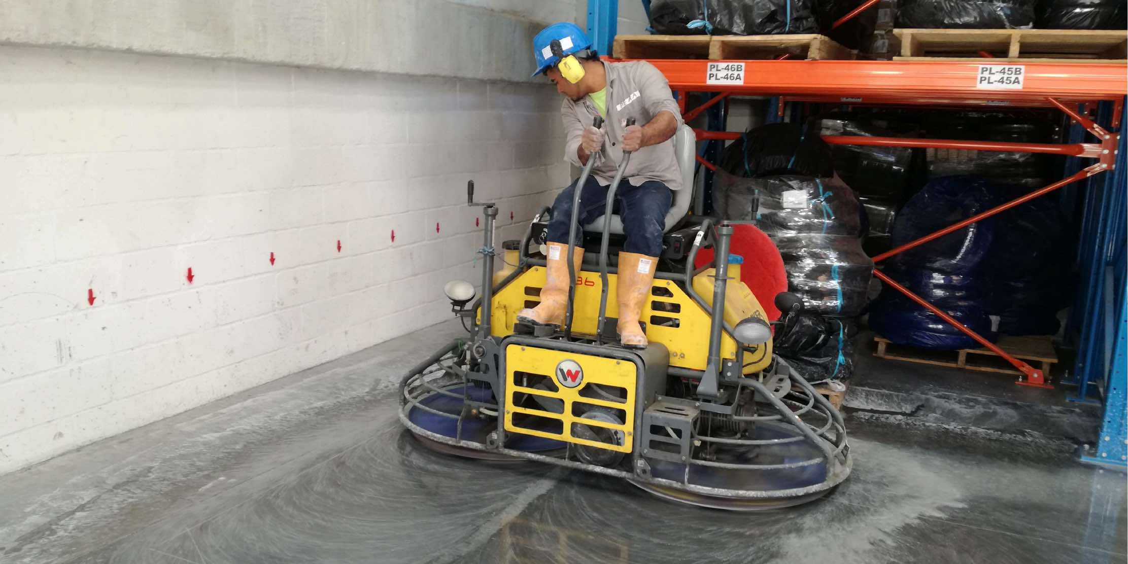 How to polish cement compressed