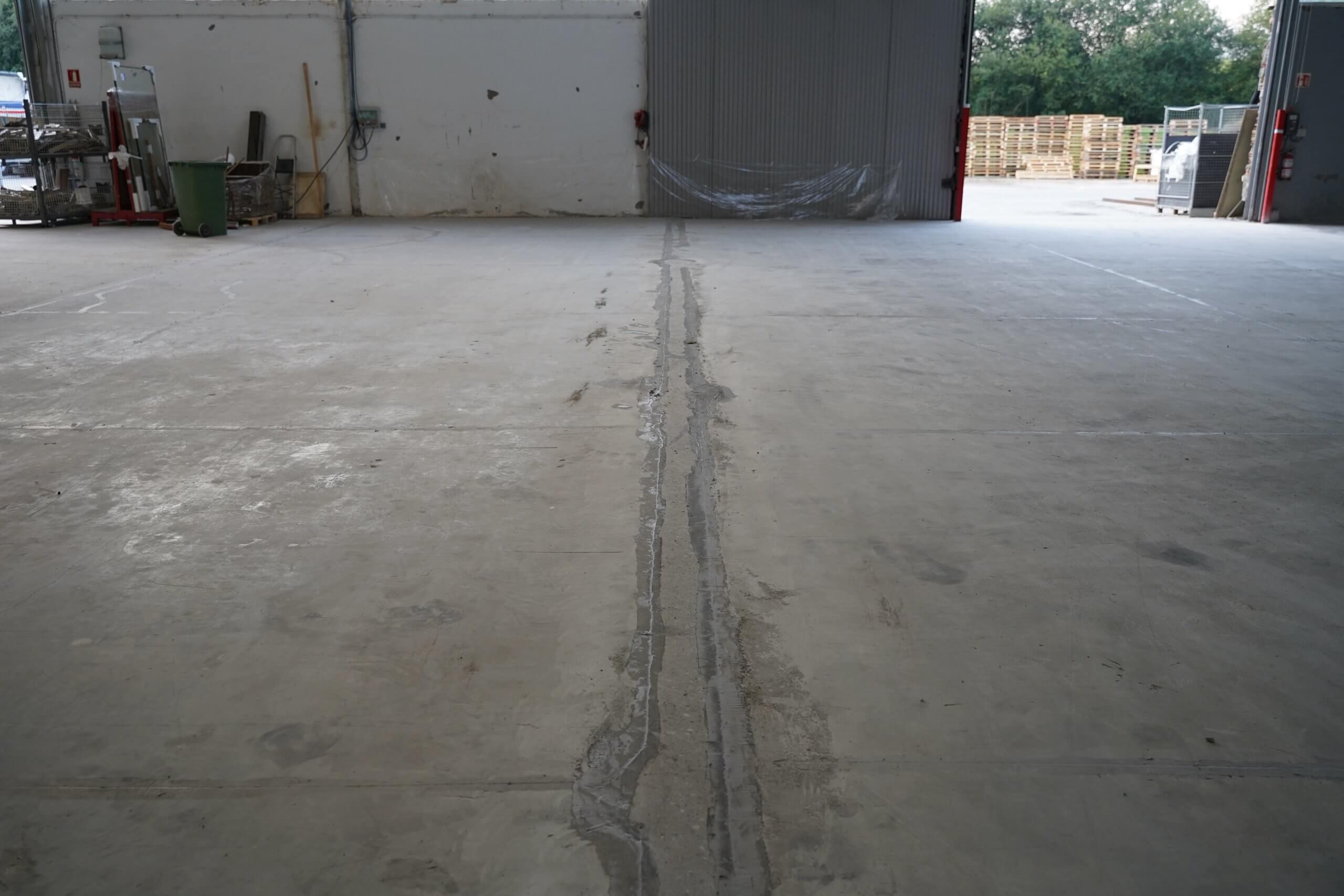 suelo de hormigon reparado