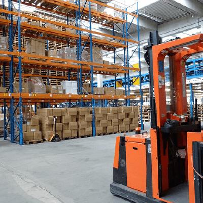 Rayonnage industriel pour palettes