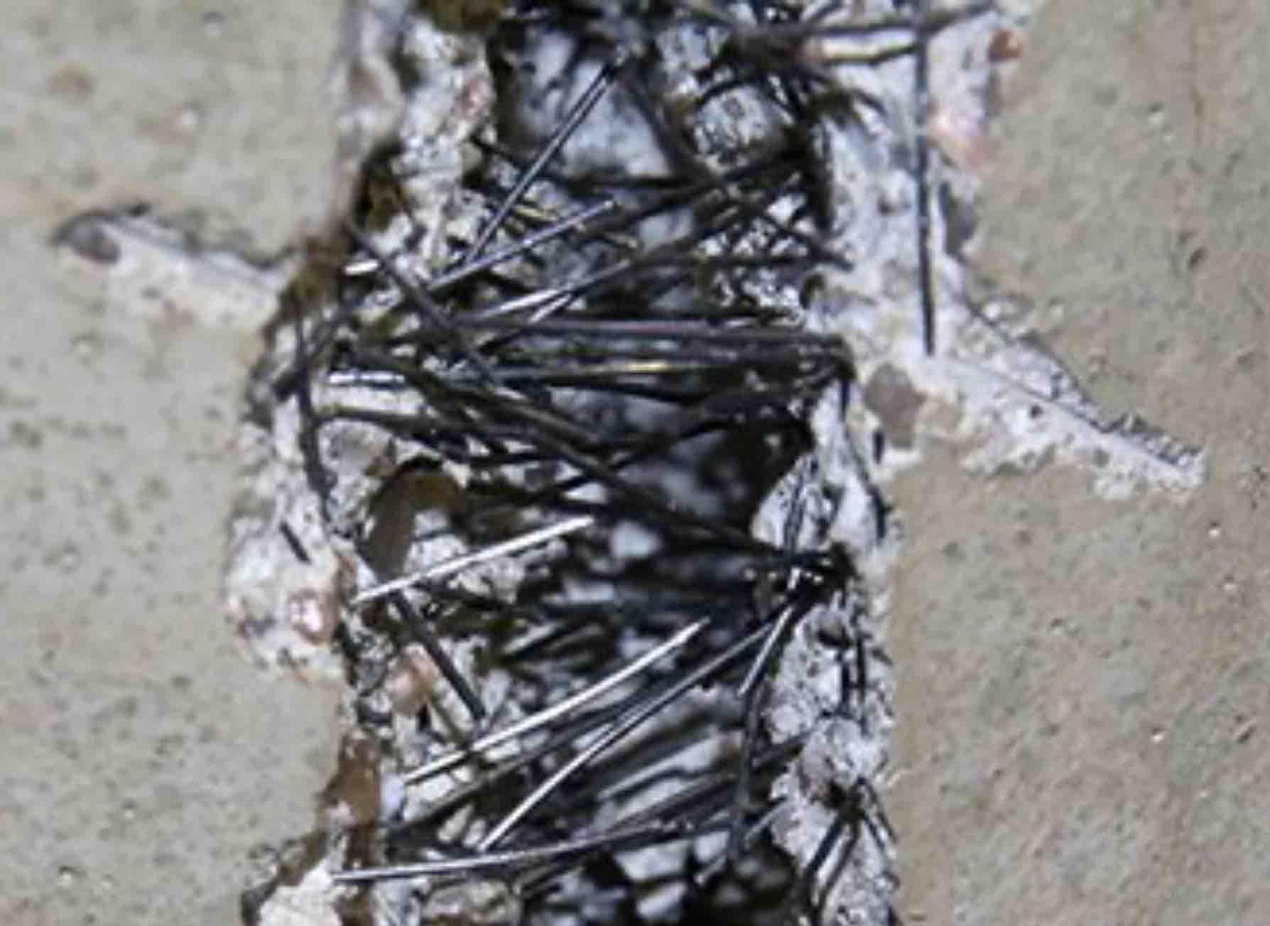 Fibras de acero en hormigón