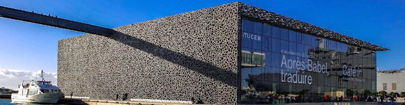 Hormigón con fibras de metal en museo marsella