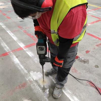 Refurbishment of floors in industrial buildings