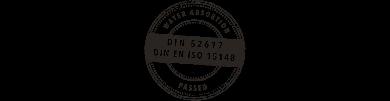 Certificado DIN 52617 - Absorción de agua