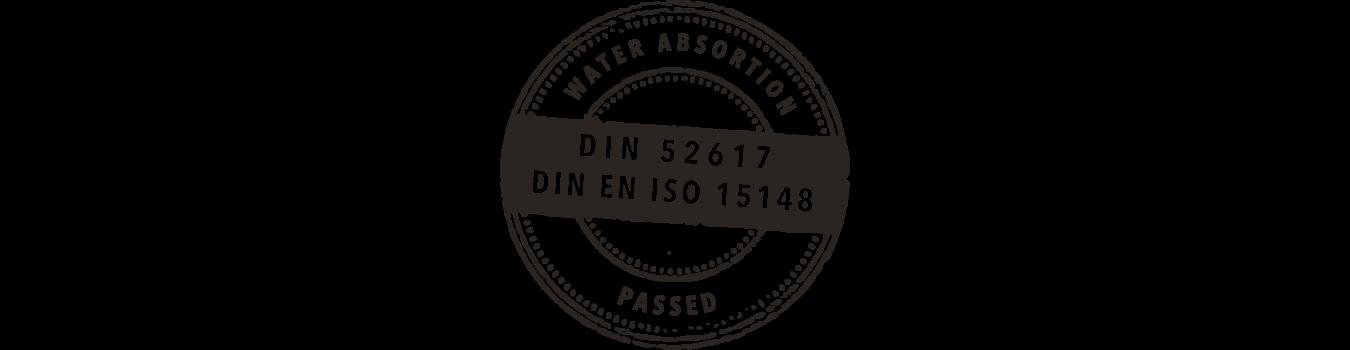 Certificado DIN 52617 - Resistencia a la abrasión