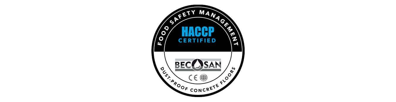 Certificado HACCP BECOSAN
