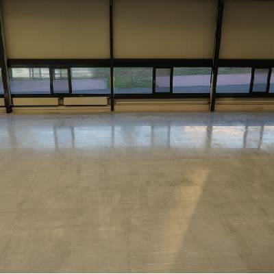 Dust-free polished floor