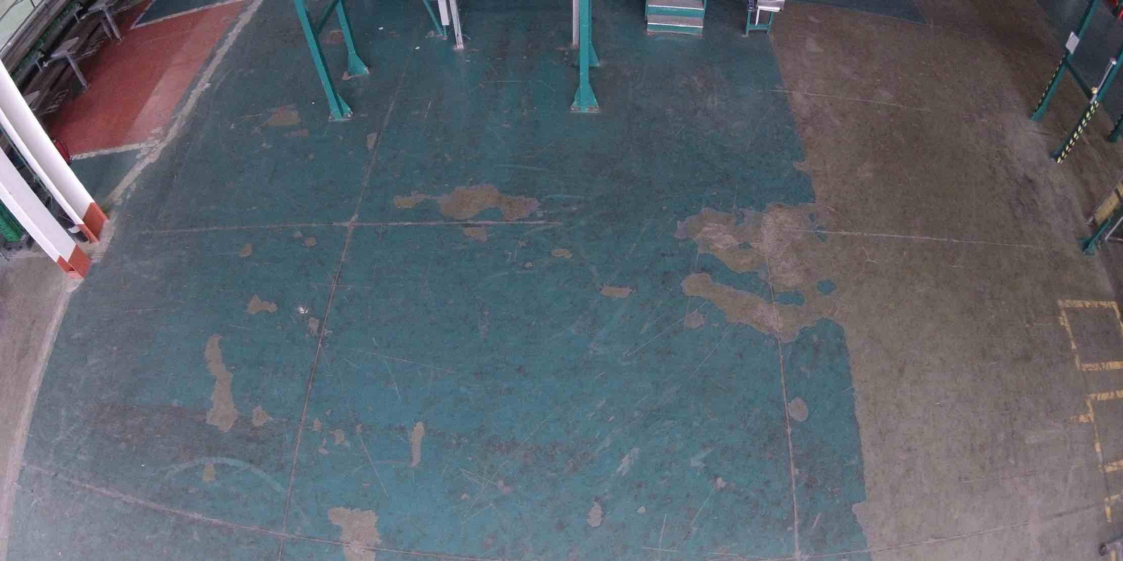 Epoxy flooring broken