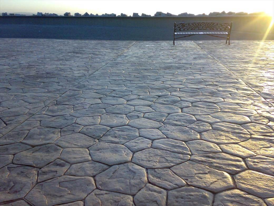 stone pattern stamped concrete