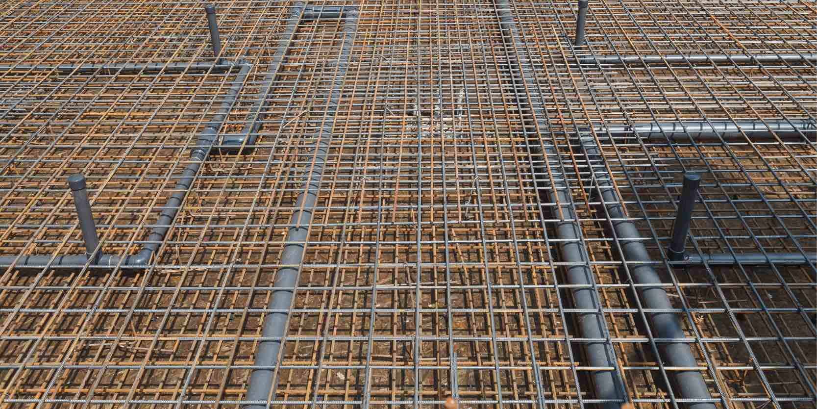 Placement of the wire mesh | Concrete slab