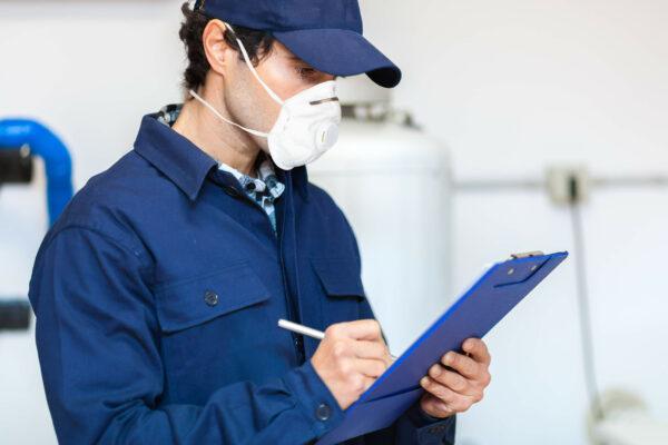 inspeccion de polvo industrial