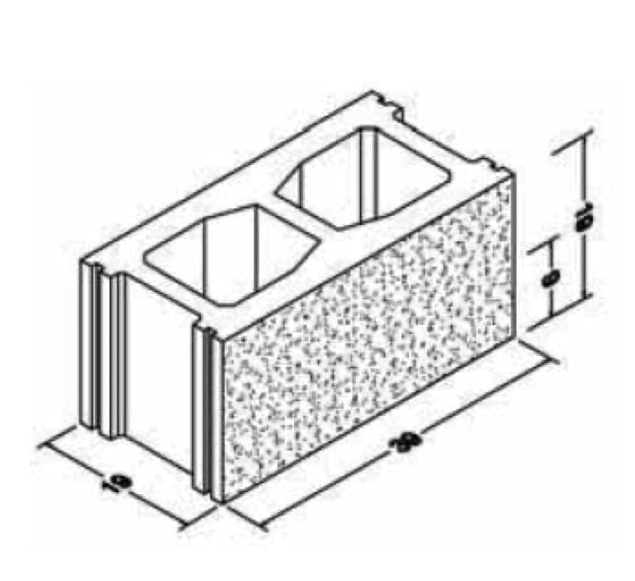 Multi-chamber arlibloc concrete block