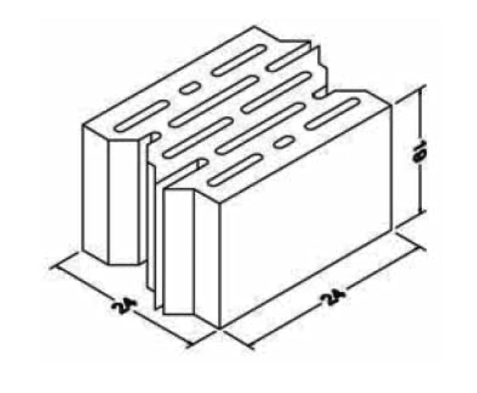 Multi-chamber block of dense aggregates
