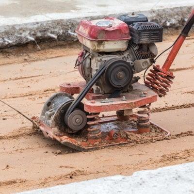 Compactacion de pavimento para vertido de hormigon armado