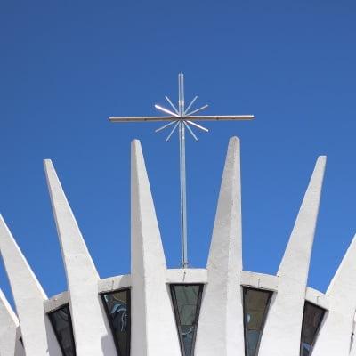 concreto de color blanco, Niemeyer