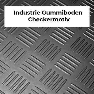 Industrie Gummiboden Checkermotiv