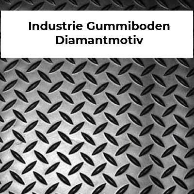 Industrie Gummiboden Diamantmotiv
