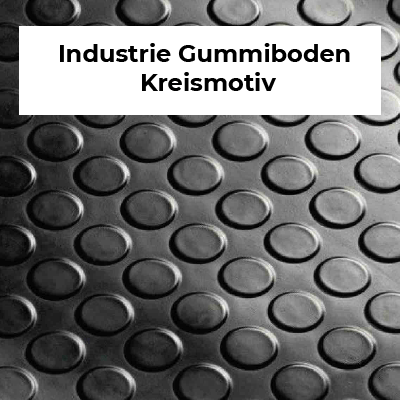 Industrie Gummiboden Kreismotiv