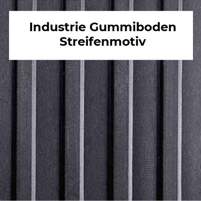 Industrie Gummiboden Streifenmotiv