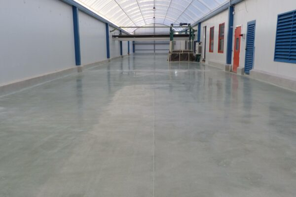 brightness concrete floor