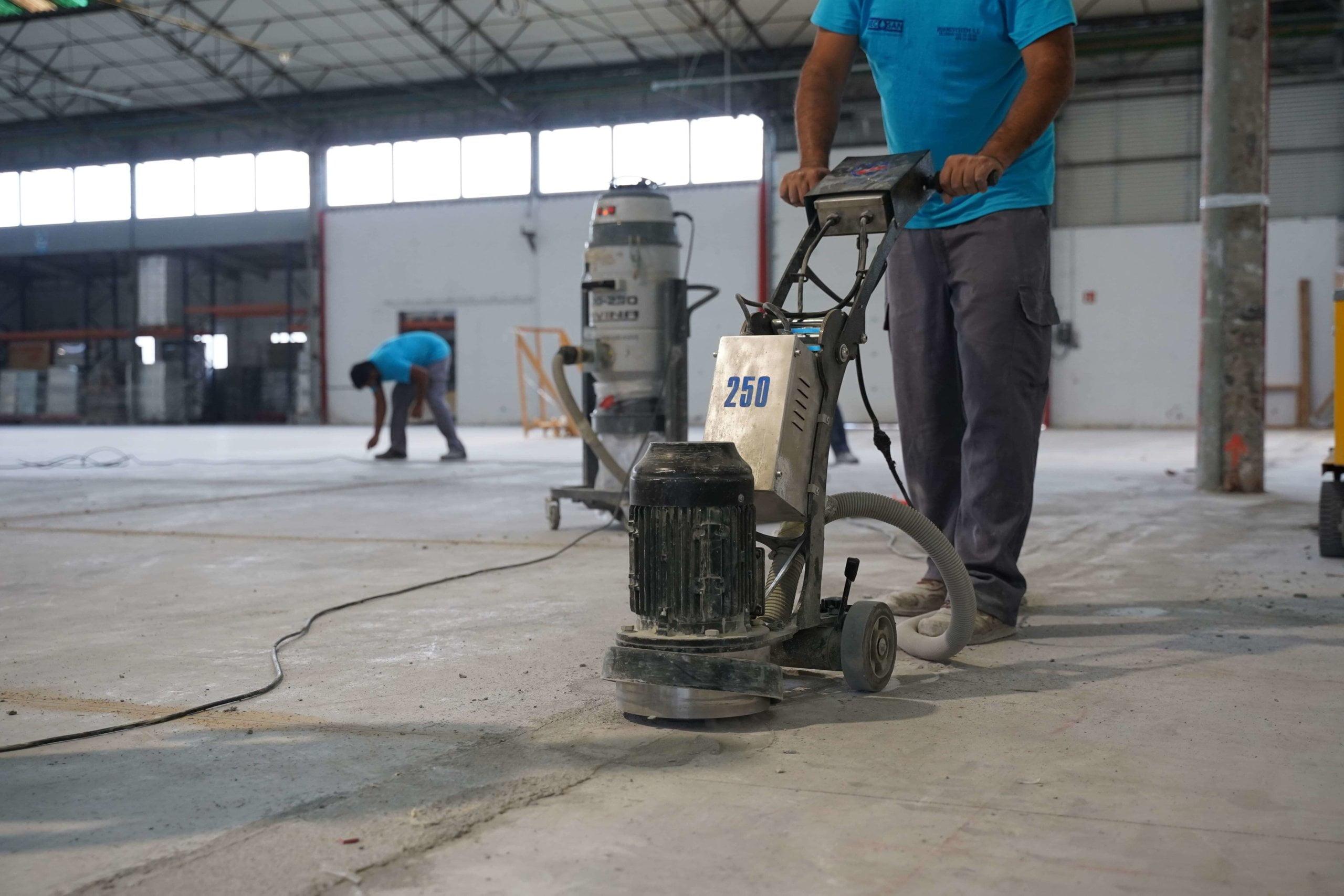 prep work concrete floor becosan-min