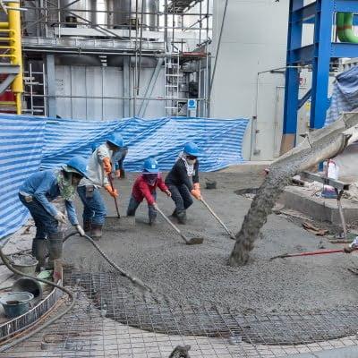 Bodenplatte aus Stahlbeton