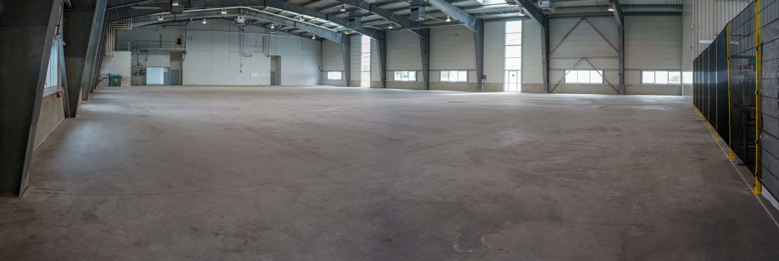 warehouse concrete floor panoramic