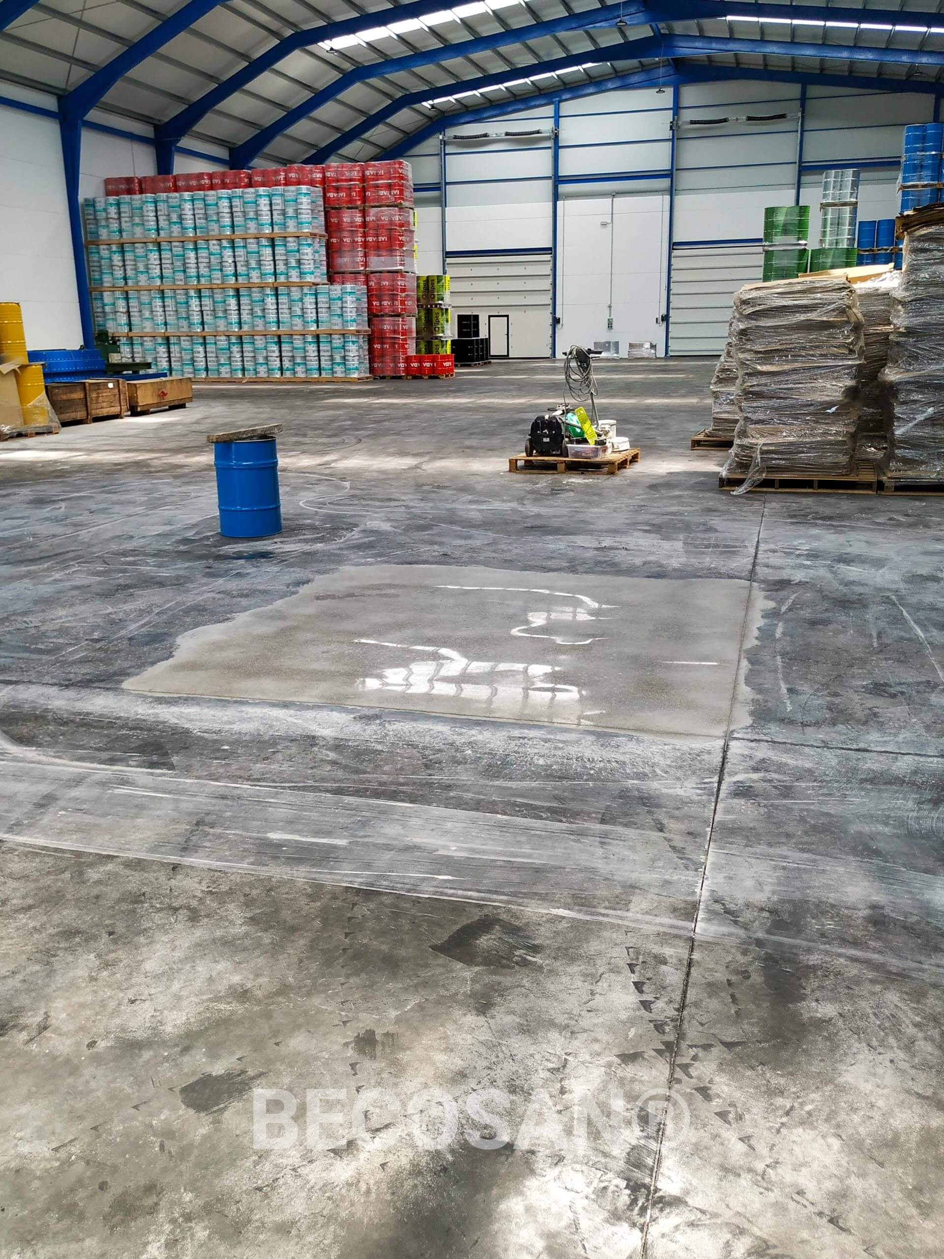 Tyre Marks Problem Warehouse Concrete Floor 03