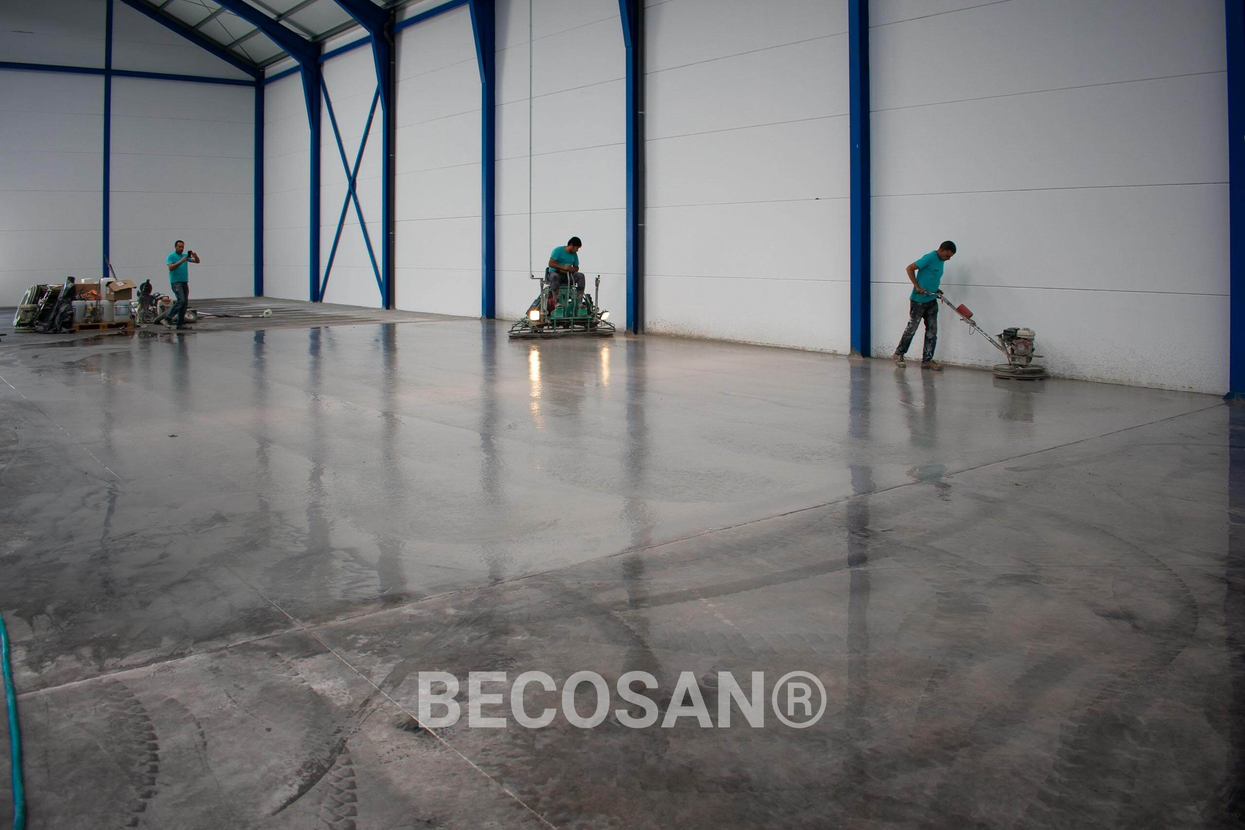 Tyre Marks Problem Warehouse Concrete Floor 07
