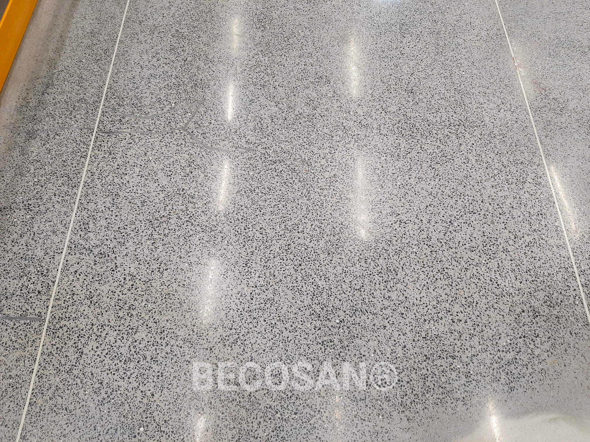 salt and pepper concrete floor