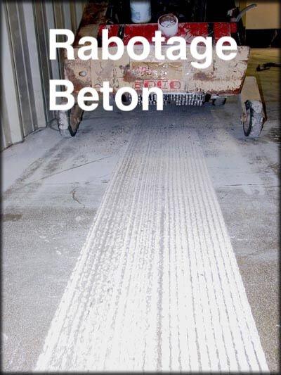 Rabotage Beton