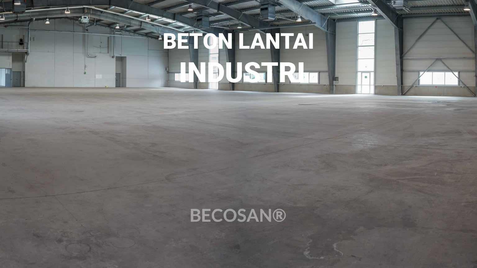 Beton lantai industri